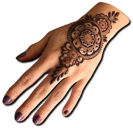 Back Hand Mehndi Design Rajasthani