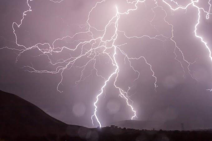 tempestade de raios, vendaval e até granizo no ES