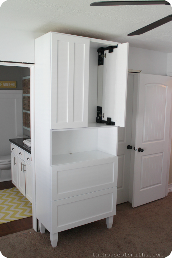 Entertainment Center - TV Storage in Master Bedroom - thehouseofsmiths.com