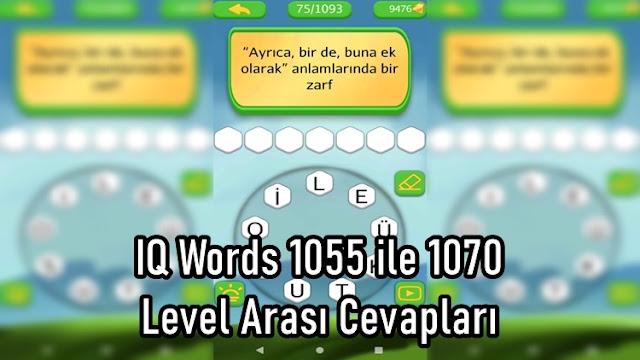 IQ Words 1055 ile 1070 Level Arasi Cevaplari