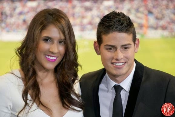Happily married husband and wife couple: James Rodriguez and Daniela Ospina