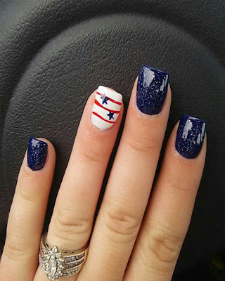 Ideas Nails Desing for 4 of july