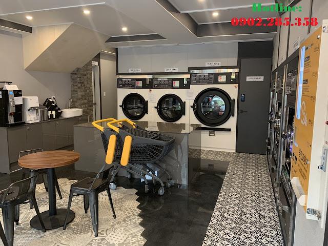 Mô hình tiệm giặt tính tiền tự động