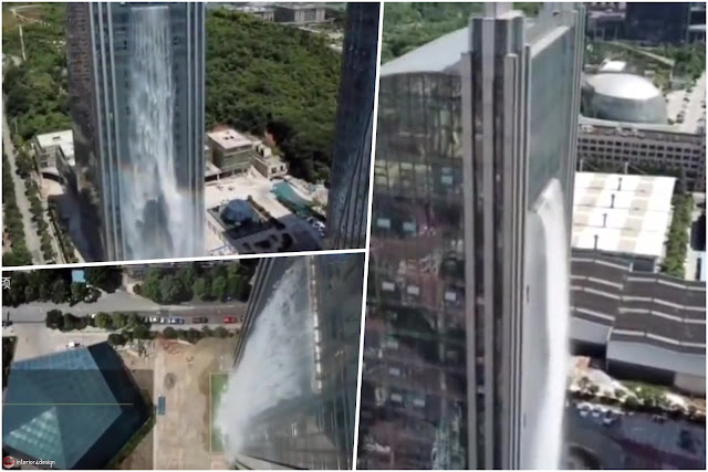 Artificial Waterfall Pours Out Of Guiyang Skyscraper (Photo + Video)
