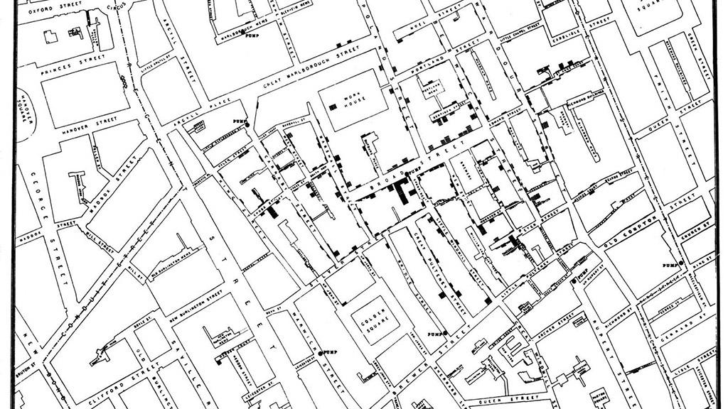 «Холерна» карта Лондона (Джон Сноу)