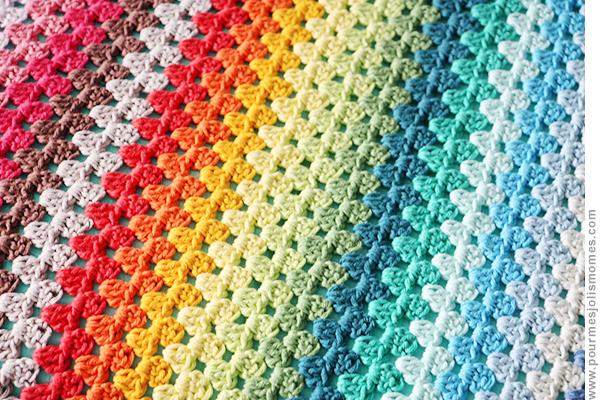 La Couverture Rainbow Au Crochet Diy Pour Mes Jolis