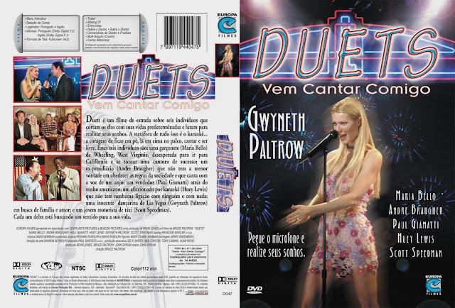 Capa DVD Duets Vem Cantar Comigo
