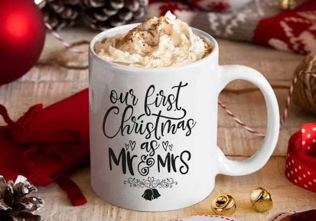 initially, Christmas married cup gift
