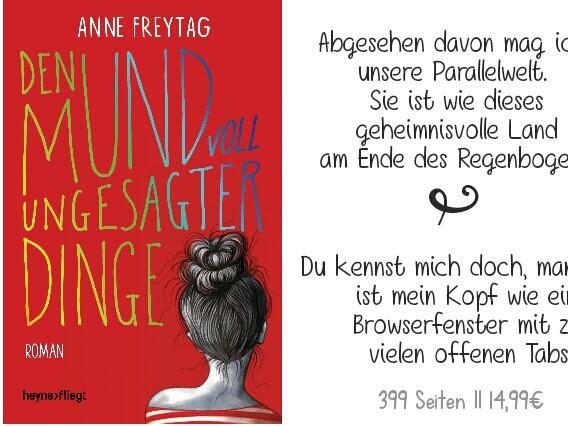 REZENSION || DEN MUND VOLL UNGESATER DINGE ~ ANNE FREYTAG