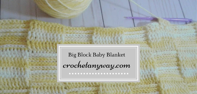 yellow squares baby blanket