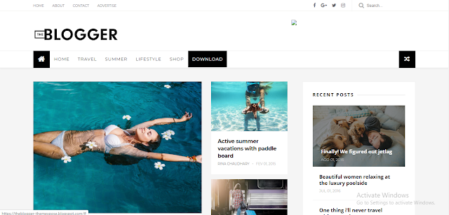 The Blogger blogger template