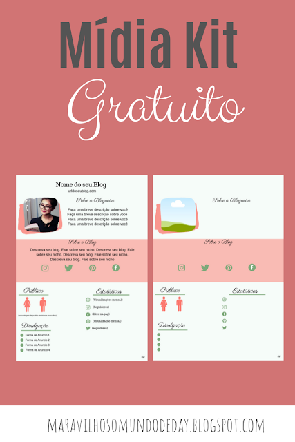 Mídia Kit para Blog Gratuito | Download