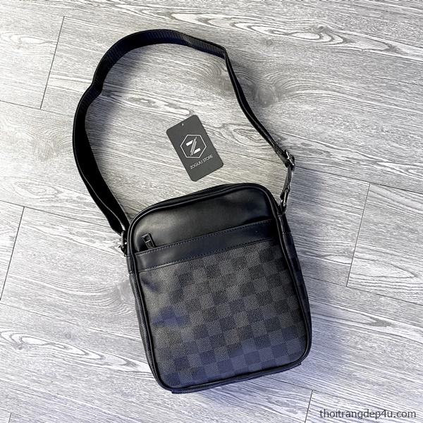 Túi đeo chéo thời trang da nam carô phong cách cá tính DNM017