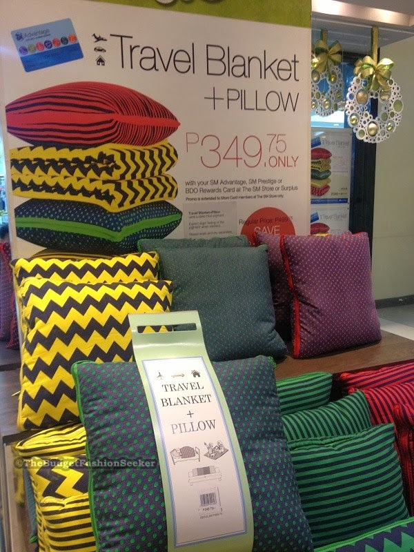 Travel Blanket + Pillow From SM Department Store (Php349