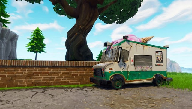 ice cream truck locations fortnite