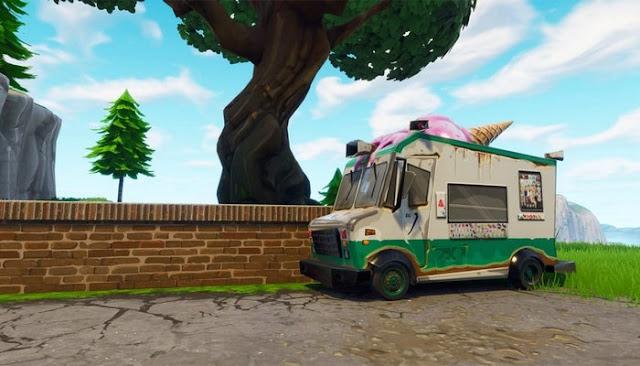 ice cream truck locations fortnite
