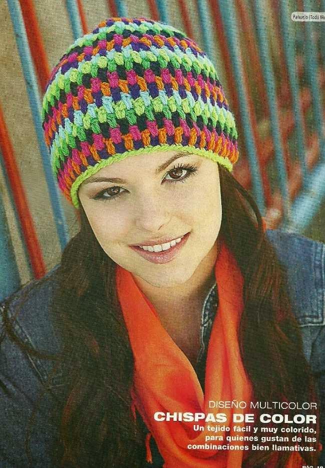#518 Gorro a Crochet o Ganchillo