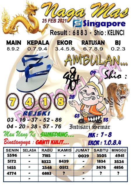 Syair Sgp Nagamas Kamis 25 Februari 2021