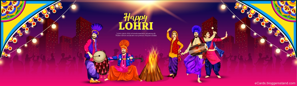 Happy lohri 2021 facebook cover pics