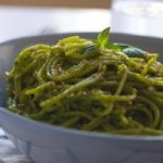 Spaghetti with Green Coconut Sauce in 15 Minutes