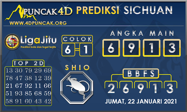 PREDIKSI TOGEL SICHUAN PUNCAK4D 22 JANUARI 2021