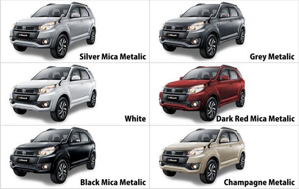 Warna Mobil Toyota New Rush Terbaru