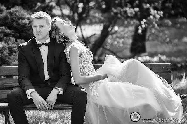 sesja ślubna w Parku Oliwskim