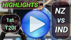NZ vs IND 1st T20I 2020