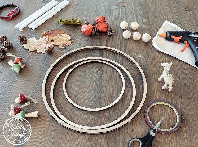 DIY-Herbstkranz für den Tisch basteln