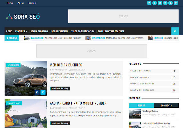 Ampere Blogger Template
