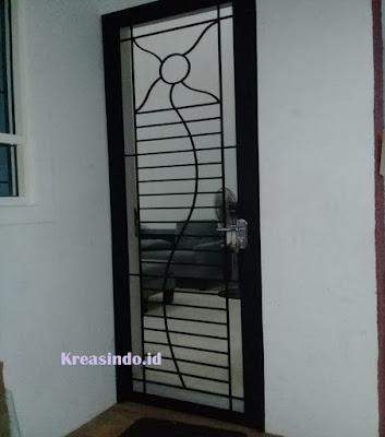 Pintu Kawat Nyamuk Besi Pesanan Bu Robby di Ciputat