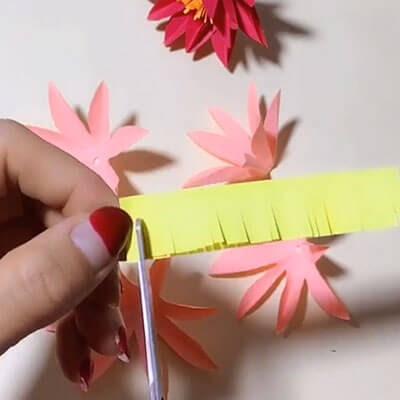 3D paper flower bouquet 4