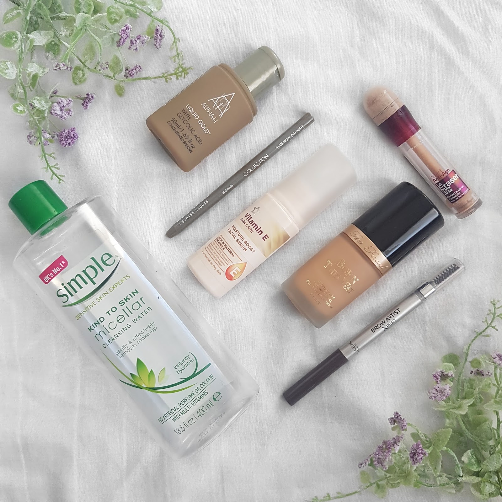 Empty Skincare and Makeup Products