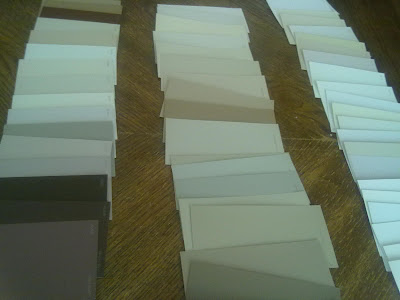 Knocking It Off Awesome Find Paint Chip Sample Cards