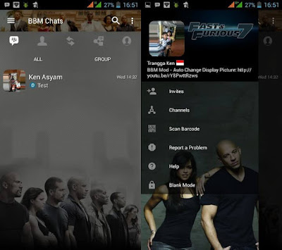 BBM Mod Tema Fast & Furious 7