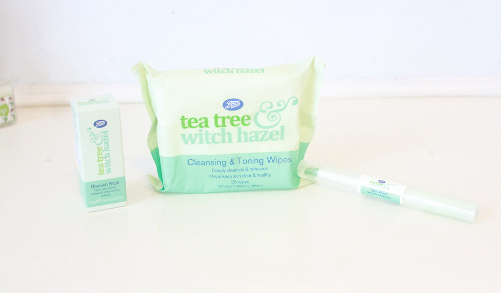Boots Tea Tree & Witch Hazel Range •