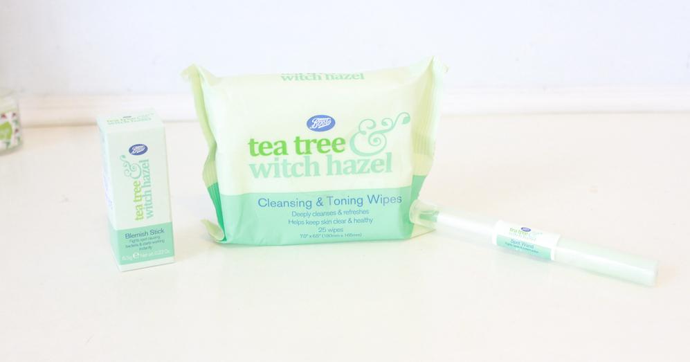 Boots Tea Tree & Witch Hazel Range •