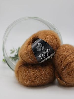 silkhair lusso, lana grossa, gebreidesjaals.
