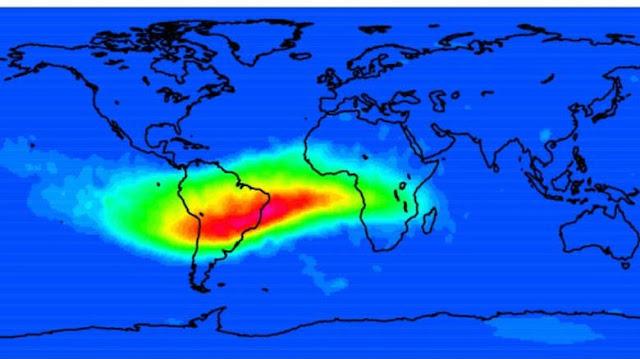 Campo magnético de la tierra presenta una abolladura-PuroIngenio