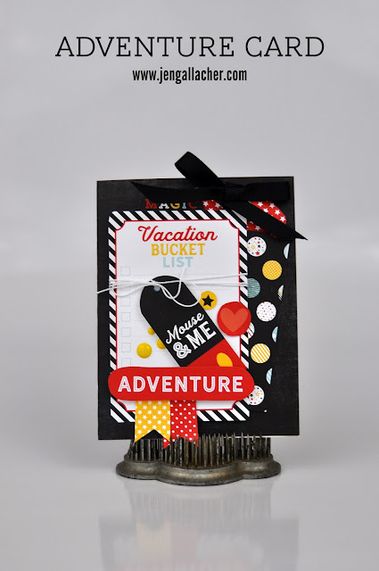 Disney Adventure Card by Jen Gallacher from www.jengallacher.com. #disney #card #vacationcard
