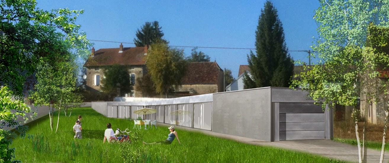 Imagen del renderizado del proyecto de la casa plana en Francia