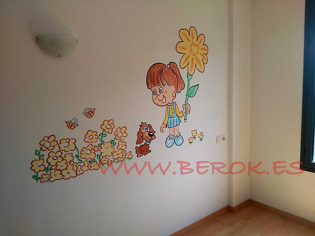 Berok graffiti mural profesional en barcelona murales - Murales para ninas ...