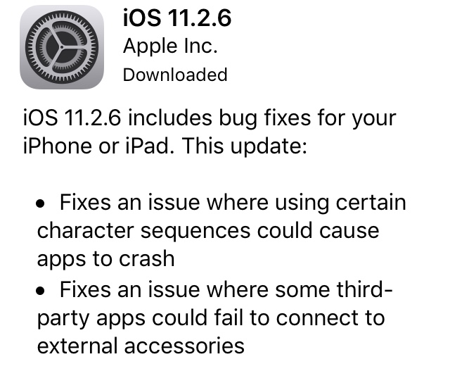 Apple Has Released iOS 11.2.6 And macOS 10.13.3 Supplemental Update With Telugu Crash Fix