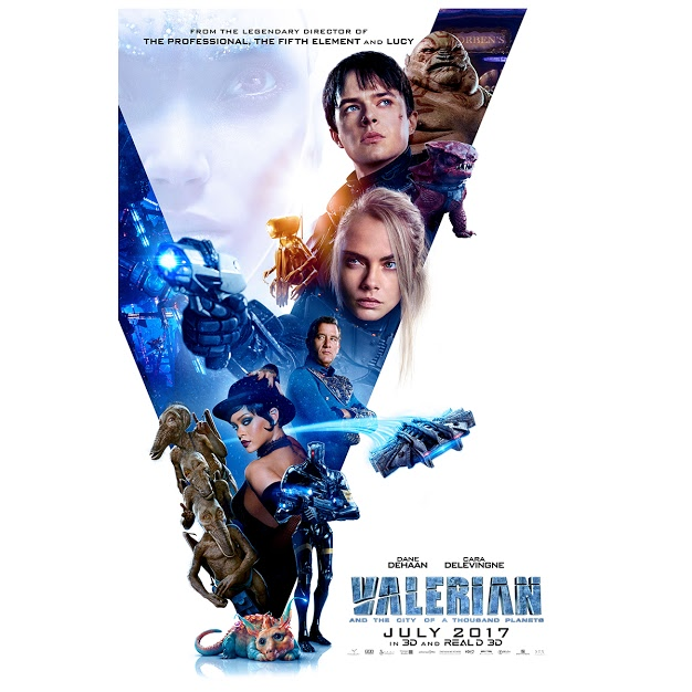movie poster for Valerian and the city of a thousand planets July 2017