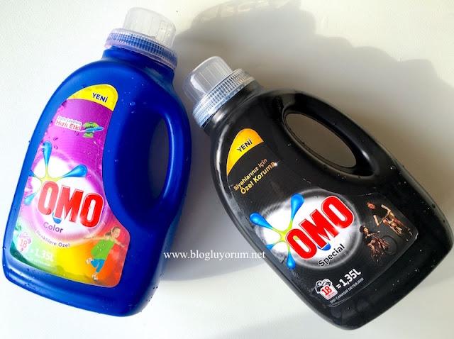 omo color renkliler için omo special siyahlar için sıvı çamaşır deterjanı
