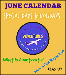 June Printable Calendar of Special Days and Activities