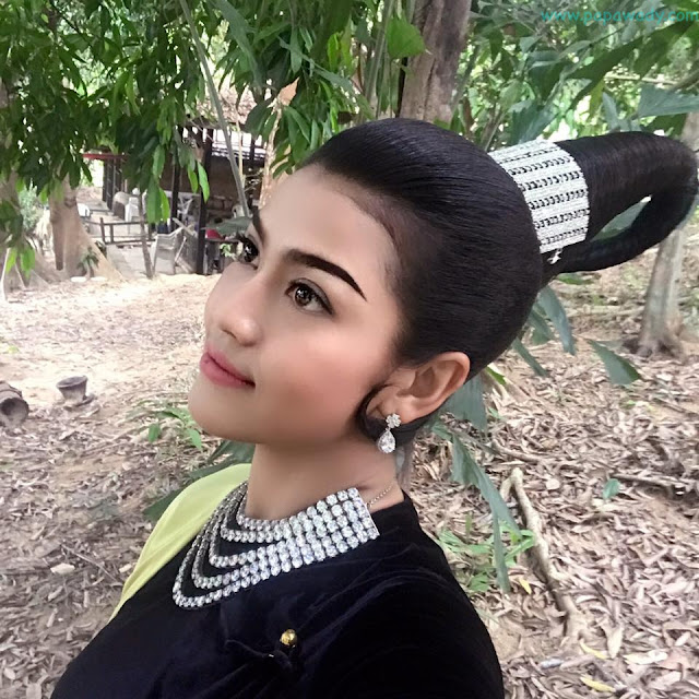 Ei Chaw Po In Myanmar Costume Dress Fashion Phone Snaps