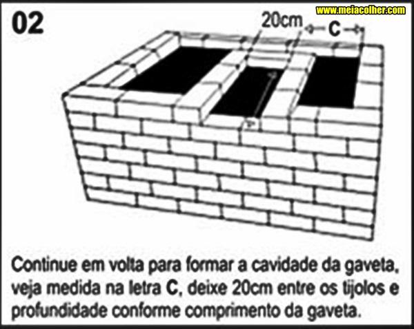 medidas dos tijolos da churrasqueira