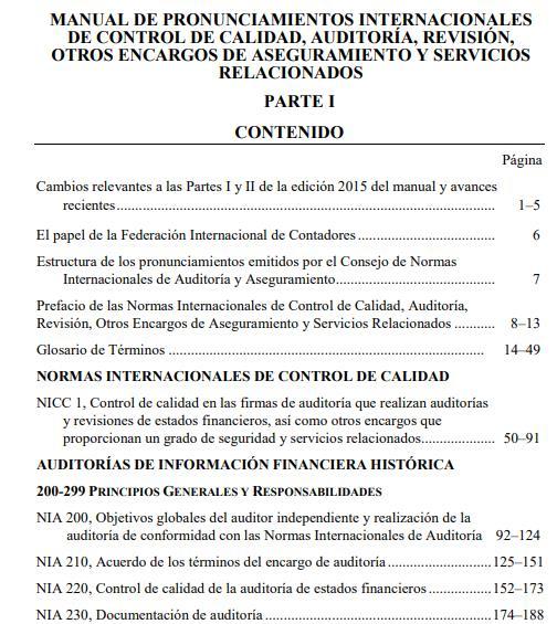 DESCARGAR NIA 2017 EN ESPAÑOL  (Normas Internacionales de Auditoría)