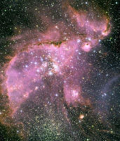 Star cluster: NGC 346 - Hubble Space Telescope - Small Magellanic Cloud - Milky Way